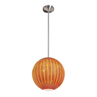 Access Lighting Safari 1 Light Pendant in Brushed Steel 23640-BS/SARO