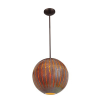 Access Lighting Safari 1 Light Pendant in Bronze 23642-BRZ/SARO