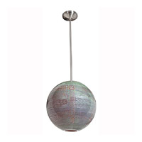 Access Lighting Safari 1 Light Pendant in Brushed Steel 23642-BS/SAO alternative photo thumbnail