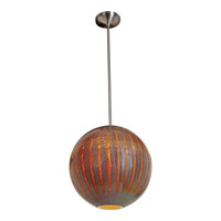 Access Lighting Safari 1 Light Pendant in Brushed Steel 23642-BS/SARO