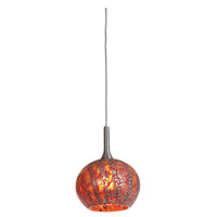 Access Lighting Safari 1 Light Pendant in Brushed Steel 23650-BS/RRO photo thumbnail