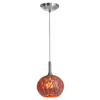 Access Lighting Safari 1 Light Pendant in Brushed Steel 23650-BS/RRO alternative photo thumbnail