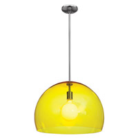 Access Lighting Acrolite 1 Light Pendant in Brushed Steel 23761-BS/AYEL photo thumbnail