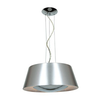 Access 23765-BSL Soho 3 Light 19 inch Brushed Steel Pendant Ceiling Light