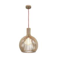 Access Lighting Kobu 1 Light Pendant in WD/NAT 23773-WD/NAT