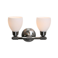 Access Lighting Greko 2 Light Vanity in Brushed Steel 23802-BS/OPL