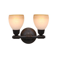 Access Lighting Greko 2 Light Vanity in Oil Rubbed Bronze 23802-ORB/FRA