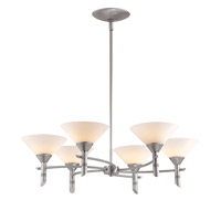 Access Lighting Celestial Luna 6 Light Chandelier in Satin 23846-SAT/OPL photo thumbnail