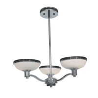 Access Lighting Onyx 3 Light Chandelier in Chrome with Opal Glass 23869-CH/OPL