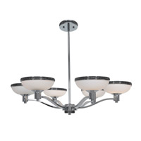 Access Lighting Onyx 6 Light Chandelier in Chrome with Opal Glass 23870-CH/OPL