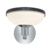 Access Lighting Onyx 1 Light Wall or Vanity Fixture in Chrome with Opal Glass 23871-CH/OPL