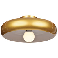 Access 23880LEDDLP-GLD/WHT Bistro LED 16 inch Gold and White Flush Mount Ceiling Light