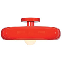 Access 23880LEDDLP-RED/SILV Bistro LED 16 inch Red and Silver Flush Mount Ceiling Light photo thumbnail