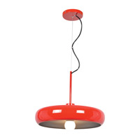 Access 23882LEDDLP-RED/SILV Bistro LED 16 inch Red and Silver Pendant Ceiling Light
