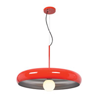 Access 23883LEDDLP-RED/SILV Bistro LED 24 inch Red and Silver Pendant Ceiling Light