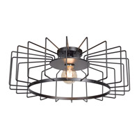 Wired LED 23 inch Black Flush Mount Ceiling Light