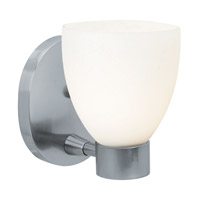 Frisco 1 Light 5 inch Brushed Steel Vanity Wall Light