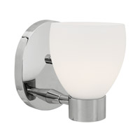 Access Lighting Frisco 1 Light Vanity in Chrome with Opal Glass C23901CHOPLEN1118BS