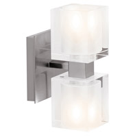Astor 2 Light 5 inch Brushed Steel Vanity Wall Light in  4.5 inch