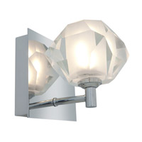 Access Lighting Glase 1 Light Crystal Chrome Wall/Vanity in Chrome with Inner Frosted Crystal Glass 23910-CH/FCL