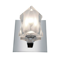 Access Lighting Glase 1 Light Crystal Chrome Wall/Vanity in Chrome with Inner Frosted Crystal Glass 23913-CH/FCL