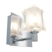 Access Lighting Glase 4 Light Crystal Chrome Wall/Vanity in Chrome with Inner Frosted Crystal Glass 23916-CH/FCL