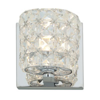 Access Lighting Prizm 1 Light Vanity in Chrome with Clear Crystal Glass 23920-CH/CCL