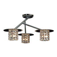 Access Lighting Prizm 3 Light Semi Flush in Chrome with Clear Crystal Glass 23924-CH/CCL