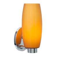 Access Lighting Cognac 1 Light Wall Sconce in Chrome with Amber Glass C23970CHAMBEN1118BS