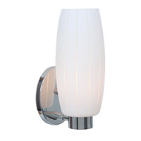 Access Lighting Cognac 1 Light Wall Sconce in Chrome with White Glass C23970CHWHTEN1118BS