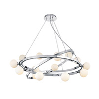Nitrogen 14 Light 38 inch Chrome Chandelier Ceiling Light