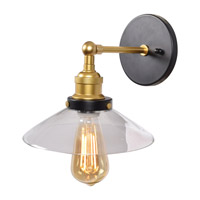 The District LED 9 inch Black and Gold Wall Sconce Wall Light