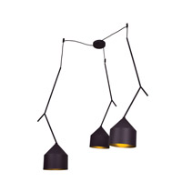 Pizzazz LED 49 inch Black and Gold Pendant Ceiling Light