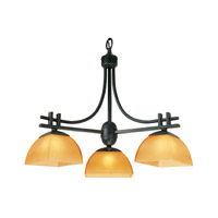 Access Lighting Ambrato 3 Light Chandelier in Antique Bronze 26123-ABRZ/AMB