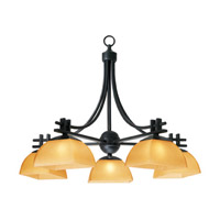 Access Lighting Ambrato 5 Light Chandelier in Antique Bronze 26125-ABRZ/AMB photo thumbnail