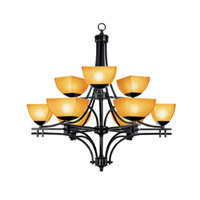 Access Lighting Ambrato 9 Light Chandelier in Antique Bronze 26132-ABRZ/AMB photo thumbnail