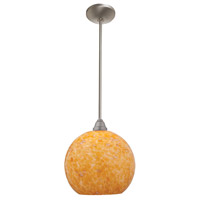 Access Lighting Flora Manhattan 1 Light Bell Glass Pendant in Brushed Steel 28528-BS/COG photo thumbnail