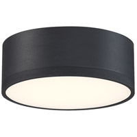 Access 50004LEDD-BL/ACR Beat LED 7 inch Black Flush Mount Ceiling Light