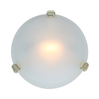 Access 50020-PB/FST Nimbus 1 Light 8 inch Polished Brass Flush Mount Ceiling Light