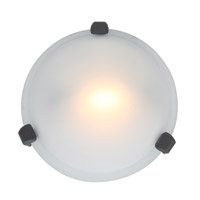 Access Lighting Nimbus 1 Light Flush Mount in Rust 50020-RU/FST
