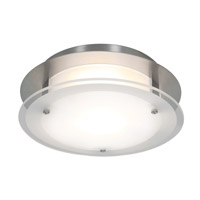 Access Lighting VisionRound 1 Light Ceiling & Wall in Brushed Steel with Frosted Glass 50036-BS/FST