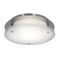 Access Lighting VisionRound 1 Light Ceiling & Wall in Brushed Steel with Frosted Glass 50037-BS/FST