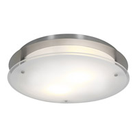 Access Lighting VisionRound 2 Light Ceiling & Wall in Brushed Steel with Frosted Glass 50038-BS/FST