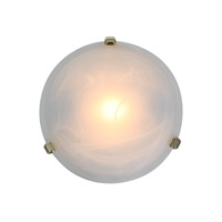 Access Lighting Nimbus 1 Light Flush Mount in Polished Brass 50046-PB/ALB