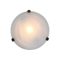 Access Lighting Nimbus 1 Light Flush Mount in Rust 50046-RU/ALB