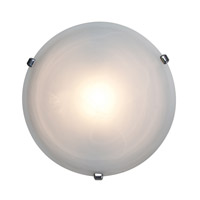 Nimbus 1 Light 16 inch Chrome Flush Mount Ceiling Light