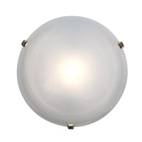 Access Lighting Nimbus 1 Light Flush Mount in Polished Brass 50050-PB/ALB