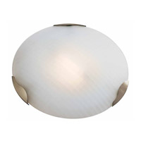 Access Lighting Radon 1 Light Flush Mount in Brushed Steel 50053-BS/CKF photo thumbnail