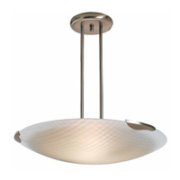 Access Lighting Radon 1 Light Pendant in Brushed Steel 50055-BS/CKF photo thumbnail