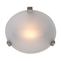 Cirrus 1 Light 8 inch Satin Flush Mount Ceiling Light